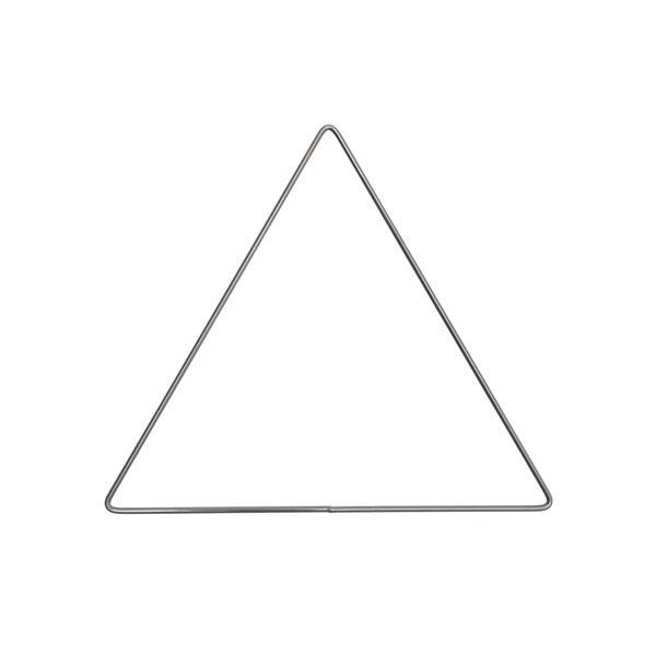 Anneau métallique triangle [ Ø 20 cm ] | Rico Design – anthracite