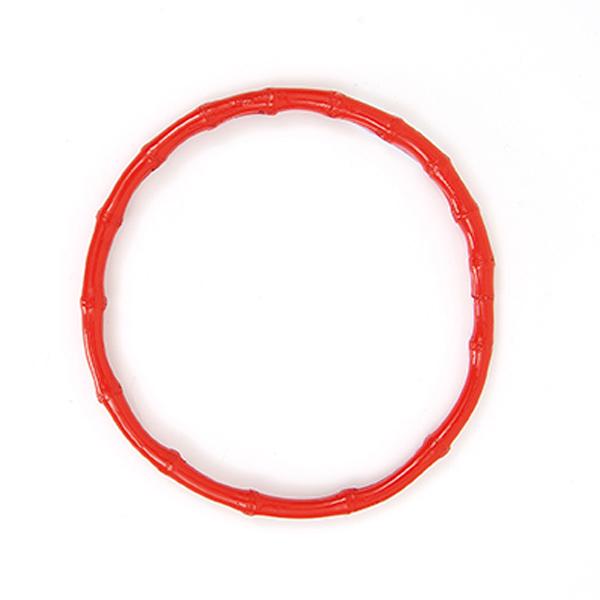 Taschengriffe Bambus, rund [Ø 15 cm] - rot | Rico Design