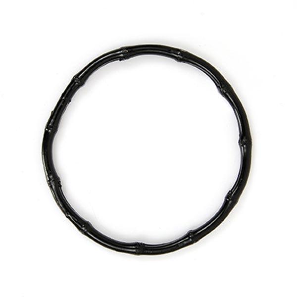 Taschengriffe Bambus, rund [Ø 15 cm] - schwarz | Rico Design