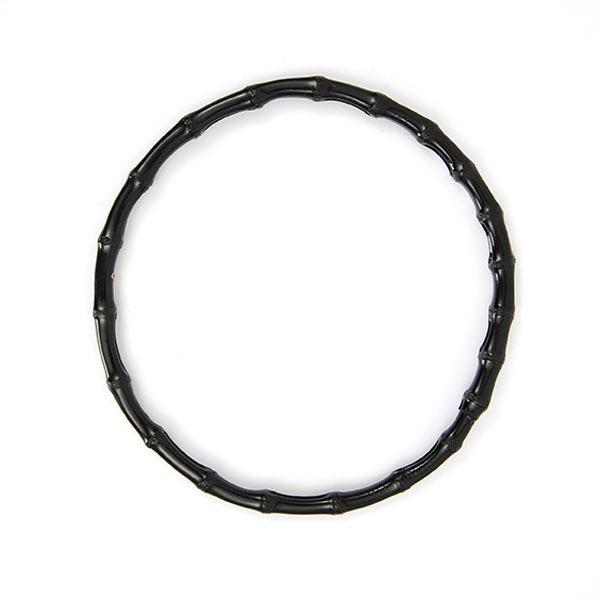Taschengriffe Bambus, rund [Ø 22 cm] - schwarz | Rico Design