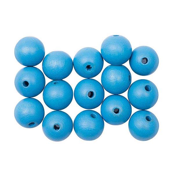 Boule en bois [15 Stk] | RICO DESIGN - bleu clair