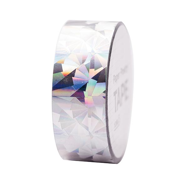 Holographic Washi Tape Kristall 3 | Rico Design - silber