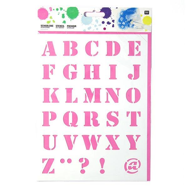Schablone - Alphabet | Rico Design