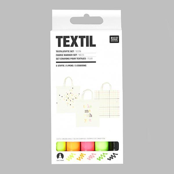Lot crayons pour textiles «Néon» | RICO DESIGN