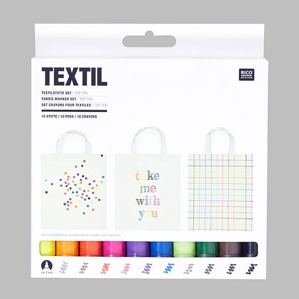 Lot crayons pour textiles «Top 10» | RICO DESIGN