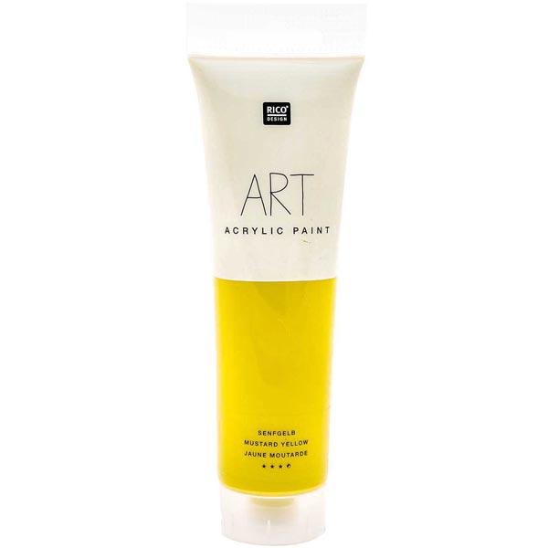 Peinture Art Acrylic [ 100 ml ] | Rico Design  - jaune moutarde
