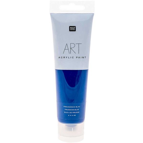 Peinture Art Acrylic [ 100 ml ]   Rico Design  - bleu de Prusse