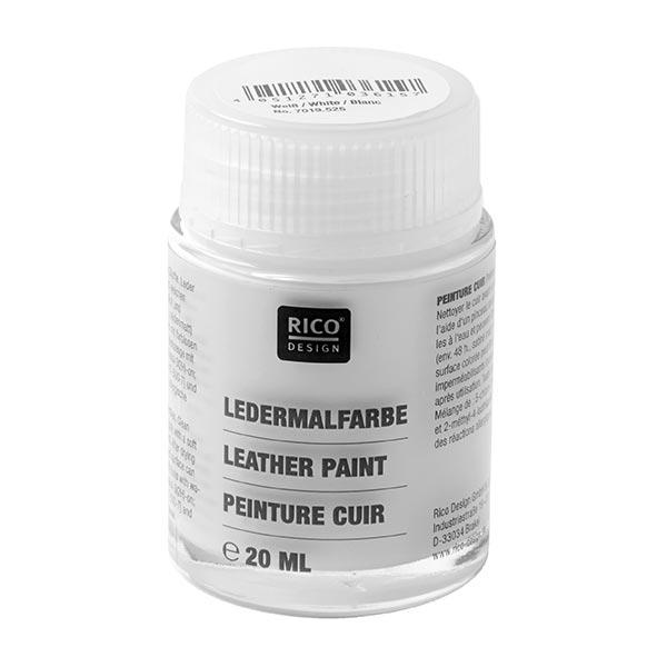 Ledermalfarbe [20 ml] | RICO DESIGN - weiss