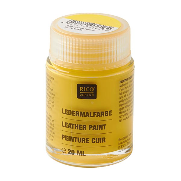Ledermalfarbe [20 ml] | RICO DESIGN - gelb