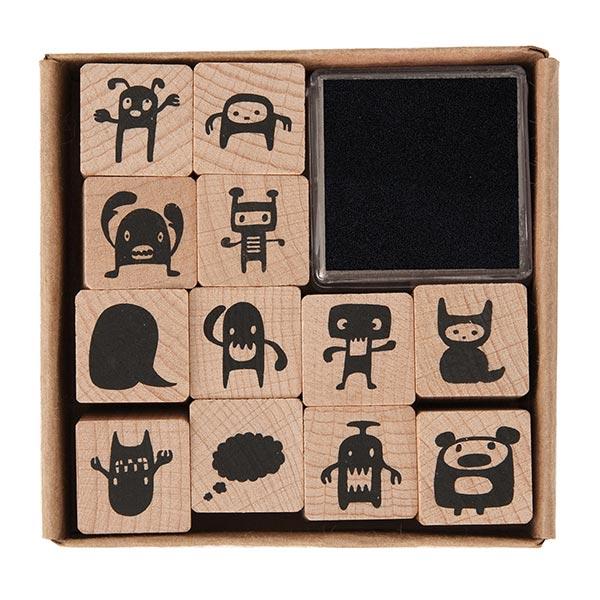 Set de tampons Monstres | Rico Design