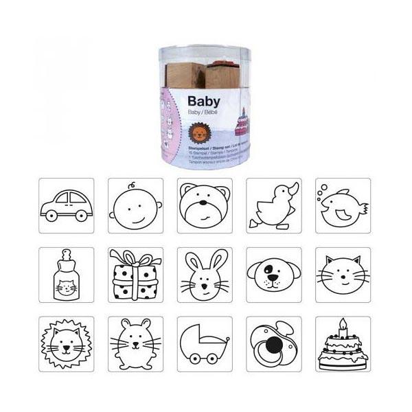 Set de tampons Bébé, 15 pièces | Rico Design