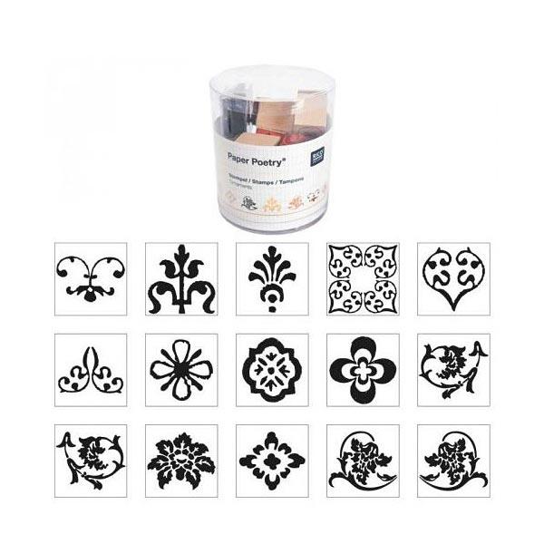 Set de tampons Ornements & fleurs | Rico Design