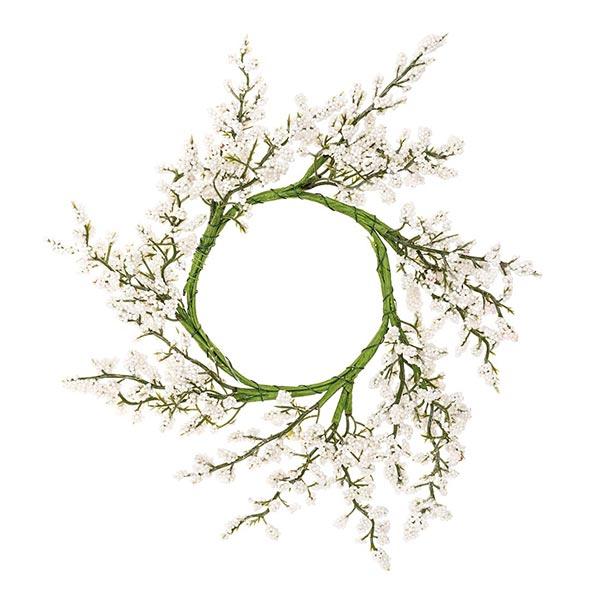 Deko Blumenkranz mit Beeren [Ø 9 cm/ 26 cm] – weiss