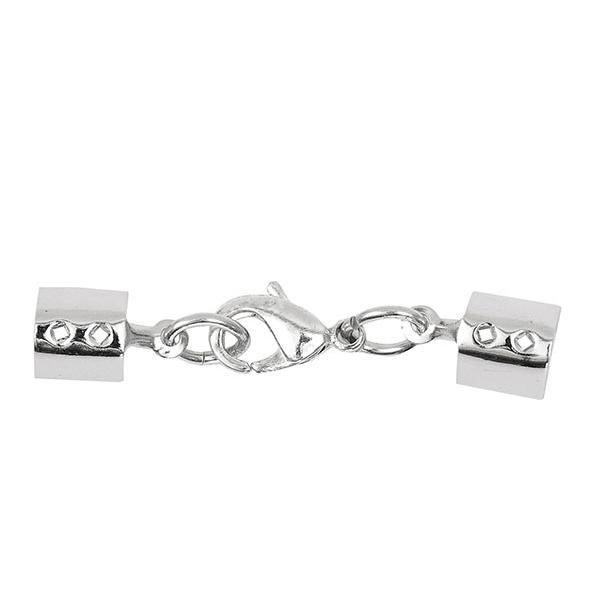 Lederverschluss (6x5 mm) 1 – silber   Rico Design