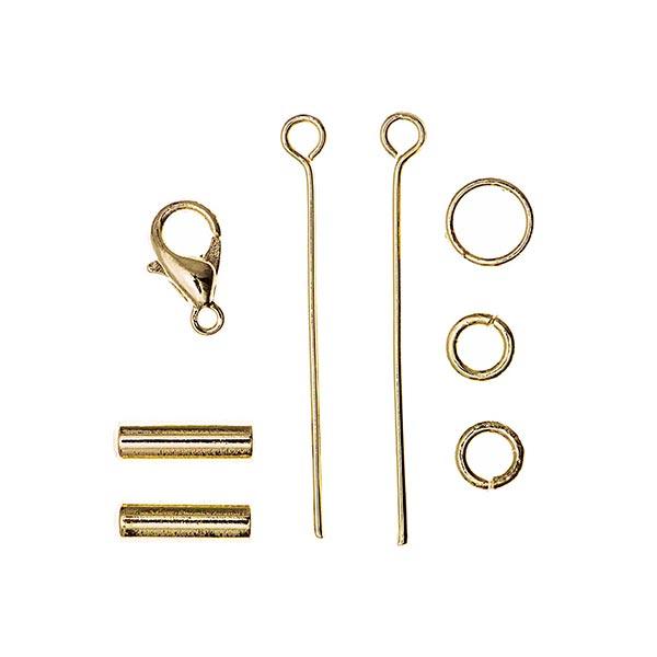 Embout | Mousqueton| Rivet tige [3 mm], Jewellery Made by Me | Rico Design - doré