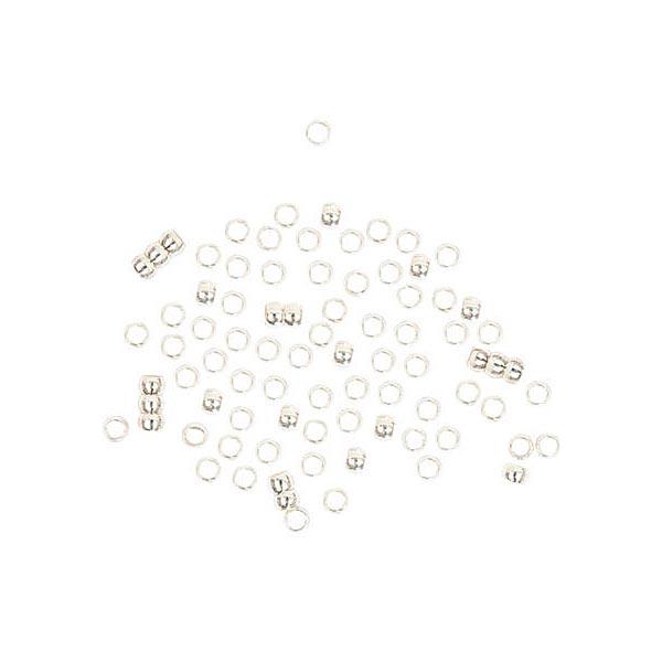 Perles à écraser, 200 pièces (Ø 2 mm) 2 argent