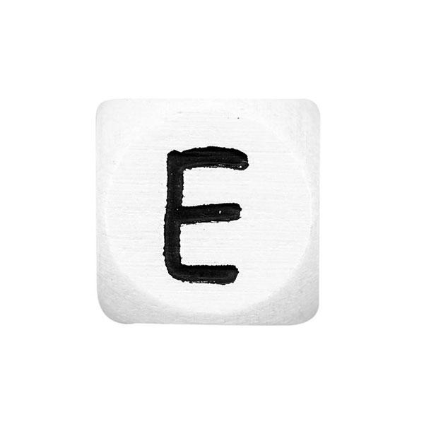 Lettres alphabet en bois E – blanc | Rico Design