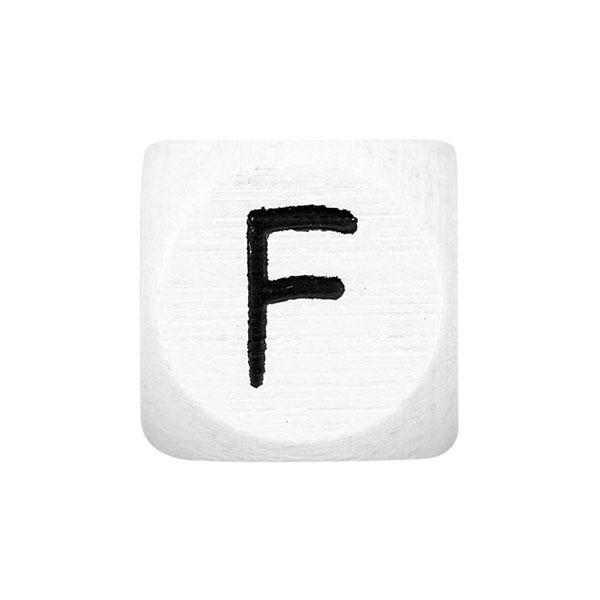Holzbuchstaben F – weiß | Rico Design