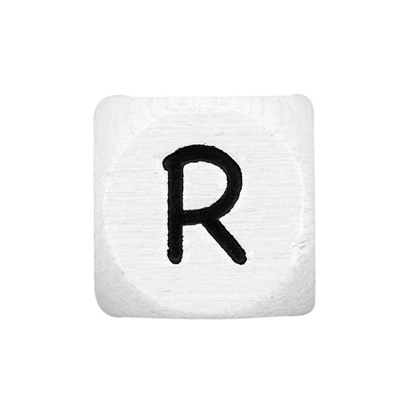 Holzbuchstaben R – weiß | Rico Design