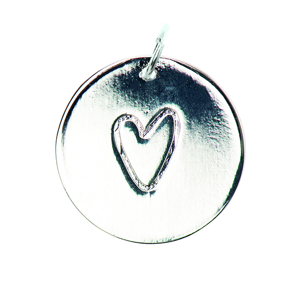 Pendentif Heart [Ø17 mm] | Rico Design – argent