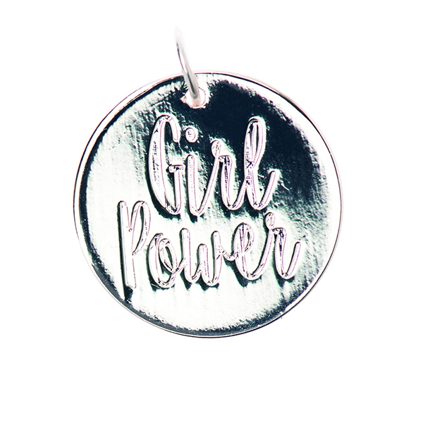 Pendentif Girlpower [Ø17 mm] | Rico Design – argent