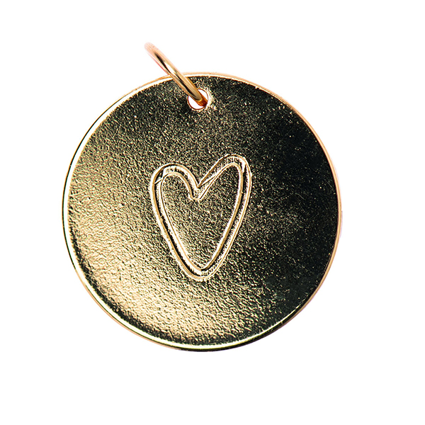Pendentif Heart [Ø17 mm] | Rico Design – or