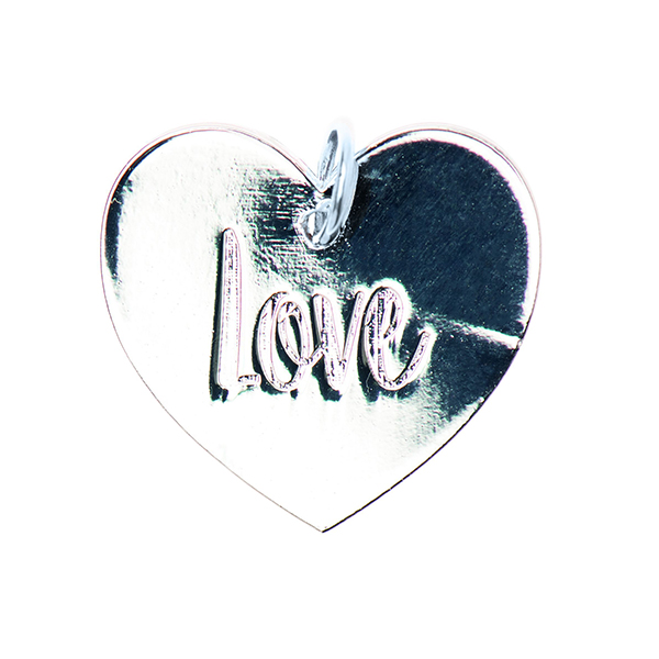 Pendentif Love [Ø17 mm] | Rico Design – argent