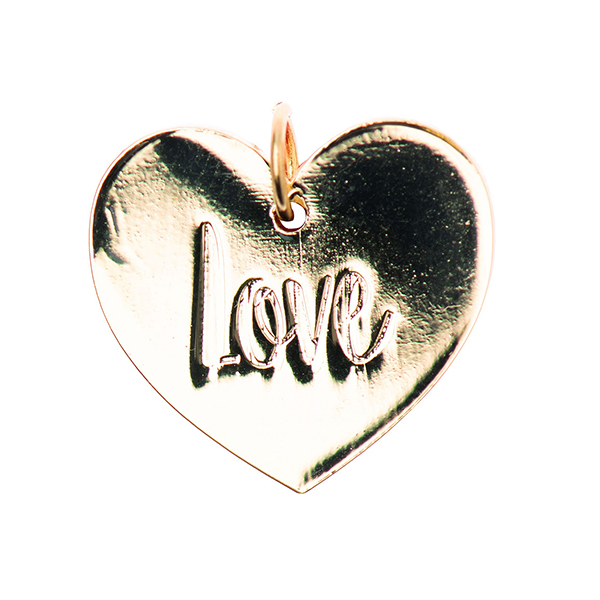Anhänger Love [16 mm x 17 mm] | Rico Design – gold