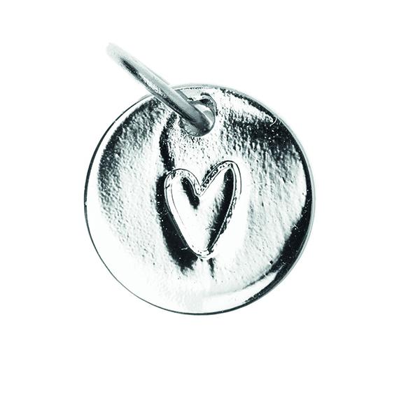 Pendentif Heart [Ø9 mm] | Rico Design – argent