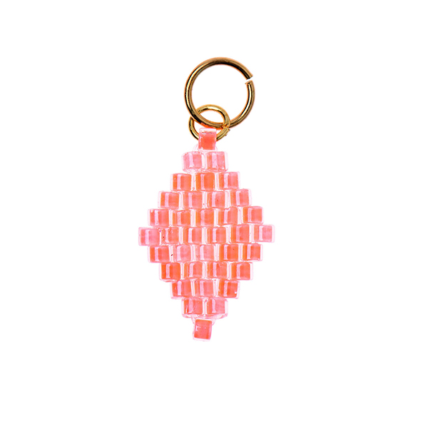 Pendentif Brick Stitch Losange [10 mm  x 15 mm] | Rico Design – orange