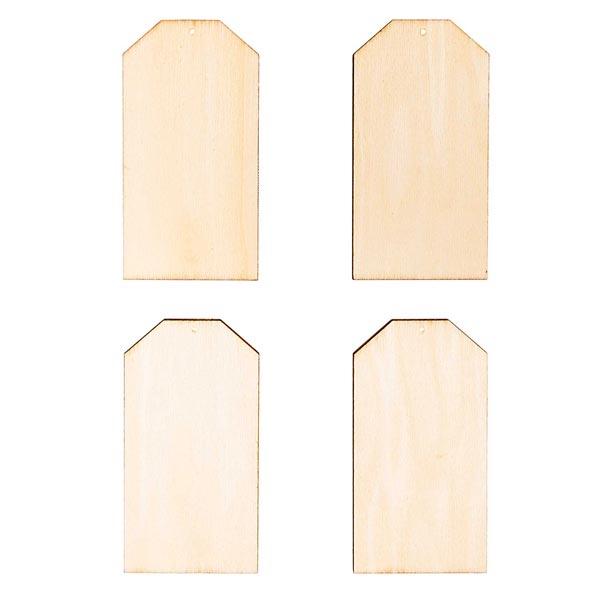 Déco en bois pendentifs plaque Set[ 7-10  x 5-9 cm ] | Rico Design – nature