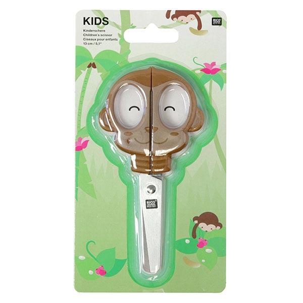 Kindermotivschere Affe – braun | Rico Design