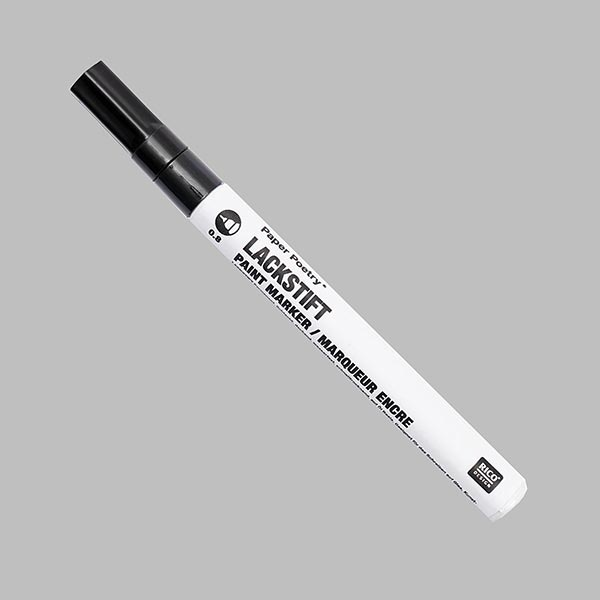 Marqueur de peinture [0,8 mm] - noir | Rico Design
