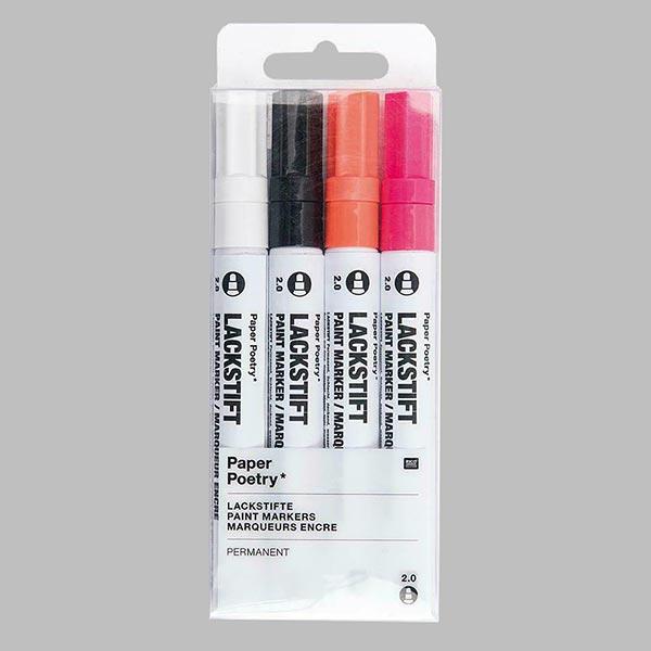 Set de marqueurs de peinture [2,0 mm] - fluo | Rico Design