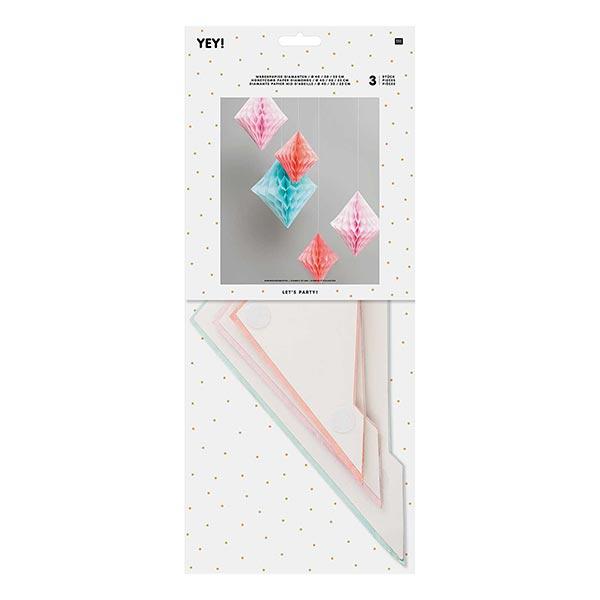 Let's Party! Diamant Papier alvéolé Pastel | Rico Design