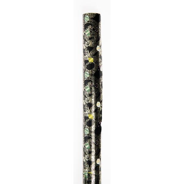 Geschenkpapier Baumschmuck [ 70 cm x 2 m ] | Rico Design – schwarz