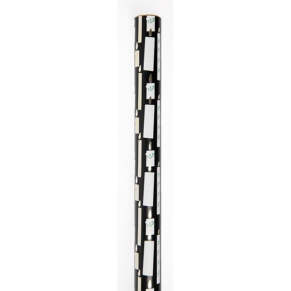 Geschenkpapier Kerze [ 70 cm x 2 m ] | Rico Design – schwarz