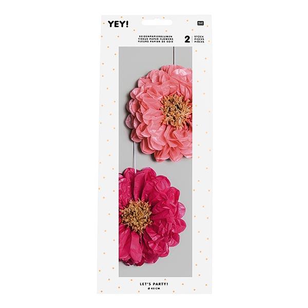 Que la fête commence! Fleurs en papier de soie | Rico Design – rose/rose vif