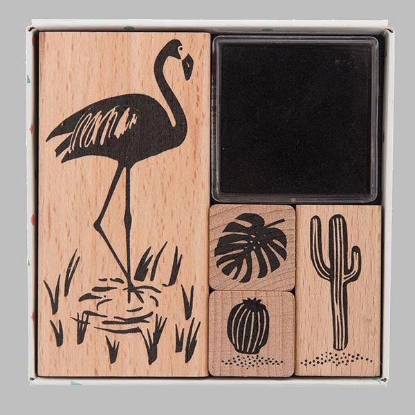 Stempelset Tropical Spring Flamingo | Rico Design