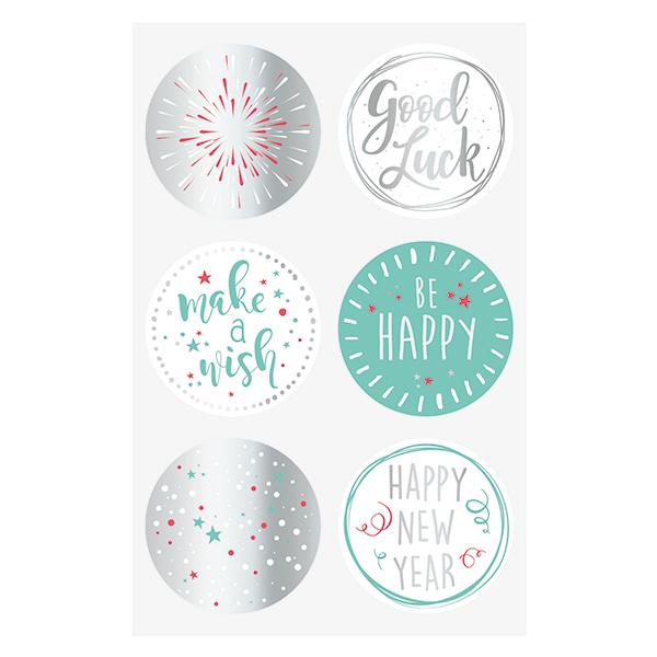 Sticker Good Luck Set – argent