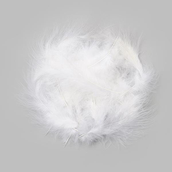 Marabufedern [15 Stk. | 10 cm] - weiss