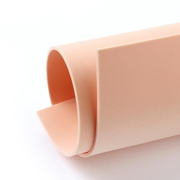 """Caoutchouc mousse """"Crea Soft"""" [20 x 30 cm] - abricot"""