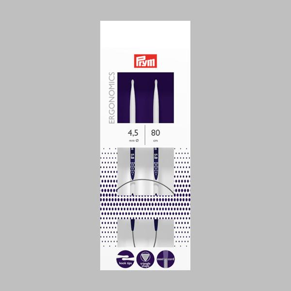 4,5|80cm Aiguilles à tricoter circulaires | Prym
