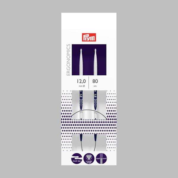 12,0|80cm Aiguilles à tricoter circulaires | Prym