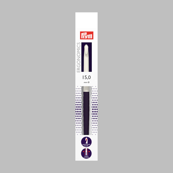 15|18,5 cm Wollhäkelnadel Ergonomics | Prym