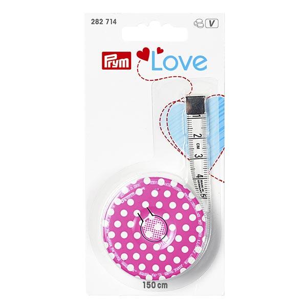 Mètre enrouleur 150cm | Prym Love – rose vif