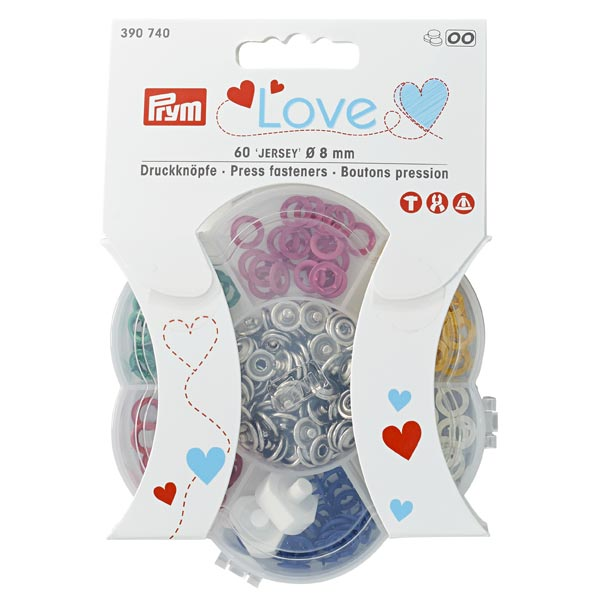 Boutons-pression jersey couleur [Ø 8 mm] Set | Prym Love