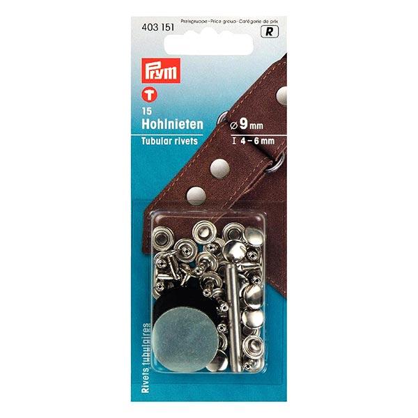 Rivets creux Klemmber [15 Pièces | Ø 9 mm] - argenté| Prym