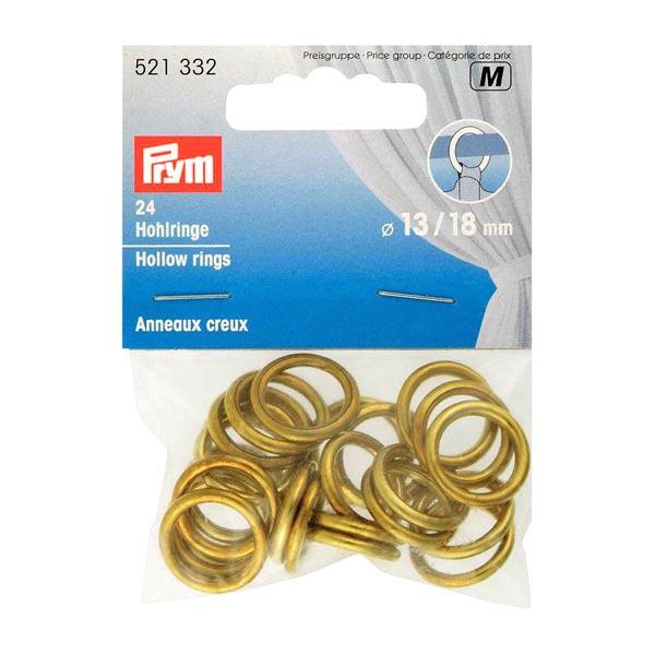 Hohlringe [13 mm] 24 Stück – gold   Prym