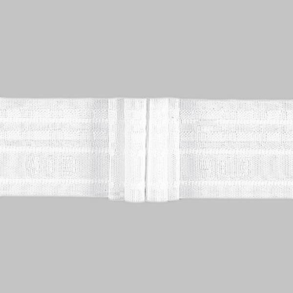 Ruban plissé 4x, 50 mm – blanc | Gerster